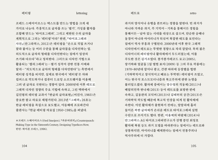 그래픽 디자인, 2005~2015, 서울 — 299개 어휘